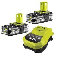 2 batteries lithium+ 18 V - 1,5 Ah et 1 chargeur rapide 1,8 A