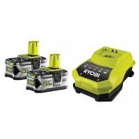 2 batteries lithium+ 18 V - 5,0 Ah et 1 chargeur rapide 1,8 A