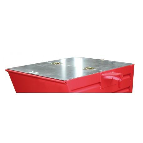 Couvercle galvanisé pour benne acier profilé