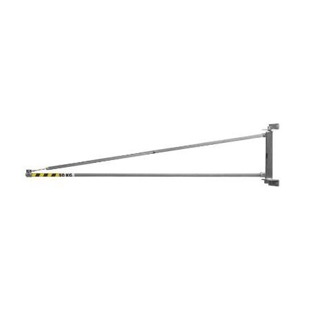 Potence triangulée légère murale acier 180° cu 50kg portee2m