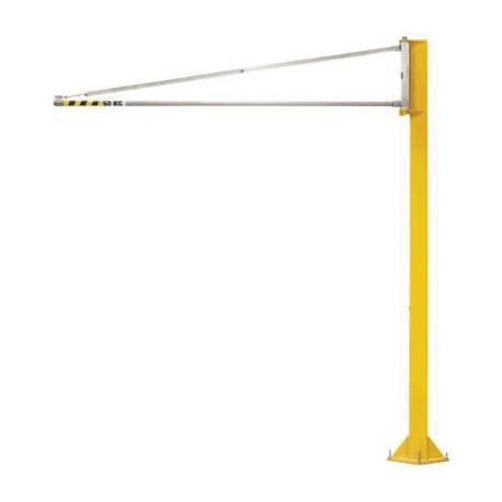 Potence triangulée légère sur fut 270°- 50 kg- portee 2m