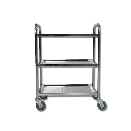 Chariot 3 plateaux Inox