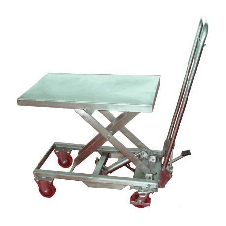 Table élévatrice inox 100 kg